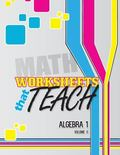 Worksheets That Teach: Algebra 1, Volume II (Volume 2)