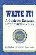 Write It! A Guide for Research  Mla Version/With Teacher's Guide