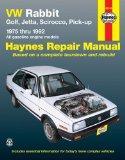 VW Rabbit, Golf, Jetta, Scirocco, Pick-Up: 1975 thru 1992- All Gasoline Engine Models (Hayes...