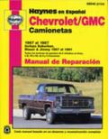 Camionetas Chevrolet & Gmc Manual De Reparacion Modelos Cubiertos  Caminonetas Chevrolet Y G...