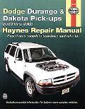 Dodge Durango & Dakota Pick-ups Automotive REpair Manual 2000 Thru 2003