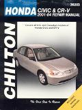 Chilton Honda Civic And Crv, 2001-2004 Repair Manual  Covers all U.S. and Canadian models of...