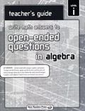 Write Math Answers : Algebra Teacher Guide -Level I
