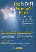 Holy Bible New International Version Minister Black Genuine Leather