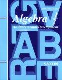 Saxon Algebra 1/2: An Incremental Development, Solutions Manual