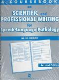 Coursebook on Scientific and Professional Writing in Speech-Language Pathology