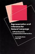 Representation And Inference For Natural Language A First Course In Computational Semantics
