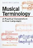 Musical Terminology A Practical Compendium in Four Languages