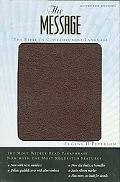 The Message Numbered Edition Burgundy Bonded Leather - Eugene H. Peterson - Hardcover