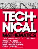 Introduction to Technical Mathematics With Problem Solving