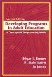 Developing Programs in Adult Education A Conceptual Programming Model