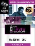 Bisk CPA Review: Business Environment & Concepts - 41st Edition 2012 (Comprehensive CPA Exam...