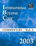 International Building Code 2003 Commentary