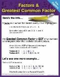 Pre-Algebra Chart: Factors and Greatest Common Factor