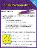 Pre-Algebra Chart: Prime Factorization