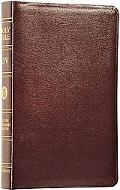 Classic Reference Bible English Standard Version  Burgundy Genuine Leather Indexed