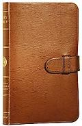 Holy Bible English Stanard Version, Thin Tan With Slide Bonded Leather