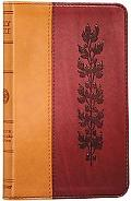 Holy Bible English Stanard Version, Trutone Tan Burgundy Vine Imitation Leather