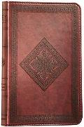 Holy Bible English Standard Version, Chestnut, Diamond Design, Trutone, Red Letter
