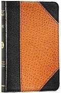 Holy Bible English Standard Version, Black Ostrich, Portfolio Design, Red Letter, Trutone
