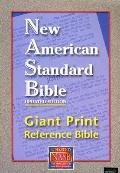 NASB Giant Print Reference Bible: New American Standard Bible Update, burgundy leathertex, t...