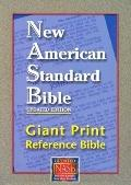 NASB Giant Print Reference Bible: New American Standard Bible Update, black leathertex, thum...