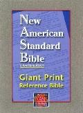 NASB Giant Print Reference Bible: New American Standard Bible Update, burgundy genuine leather