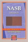 New American Standard Bible Ultrathin Reference: NASB UPdate LeatherTex, Brown/Light Brown