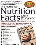 Nutribase Nutrition Facts Desk Reference