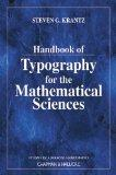 Handbook of Typography for Mathematical Sciences