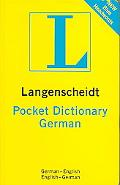 Pocket German Dictionary German-English / English-German In The New German Spelling