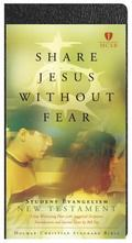 Bib Holman New Testament Truthquest, Share Jesus Without Fear Black Bonded Leather