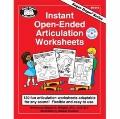 Instant Open-Ended Articulation Worksheets : 130 Fun Articulation Worksheets Adaptable for A...