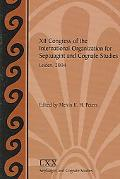 XII Congress of the International Organization for Septuagint and Cognate Studies Leiden, 20...