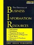 Directory of Business Information Resources, 2003-2004