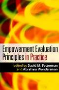 Empowerment Evaluation Principles In Practice