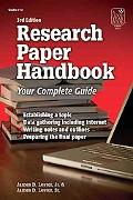 Research Paper Handbook Your Complete Guide