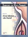 Workbook for Vocal Therapy Exercises