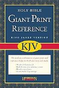 Holy Bible King James Version, Black Bonded Leather, Giant Print Reference Bible
