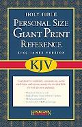 Holy Bible King James Version, Black Imitation Leather, Personal Size, Giant Print, Reference