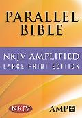 The NKJV/Amplified Parallel Bible, Lg. Print, Burgundy