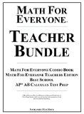 Math For Everyone Teacher Bundle Hardcover: Math For Everyone Combo Book, Math For Everyone ...