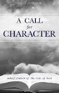 Call for Character