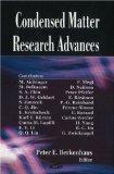 Condensed Matter Research Advances