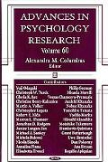 Advances in Psychology Research, Volume 60