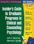 Insider's Guide to Graduate Programs in Clinical and Counseling Psychology : 2012/2013 Edition