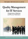 Quality Management for It Services : Perspectives on Business and Process Performance