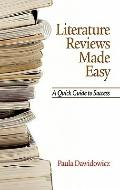 Literature Reviews Made Easy : A Quick Guide to Success