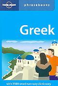 Lonely Planet Greek Phrasebook