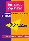 Milet Turkish English Pocket Dictionary/Milet Ingilizce Cep Sozlugu